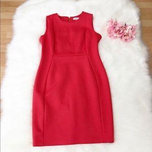 🌺Calvin Klein Red Career Dress Size 14